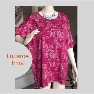 LuLaroe Holiday Shimmer Irma T Shirt Size Small
